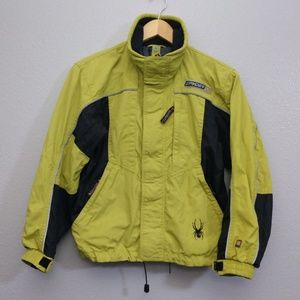 Spyder Boy's 12 Green Zip Jacket Rain Coat
